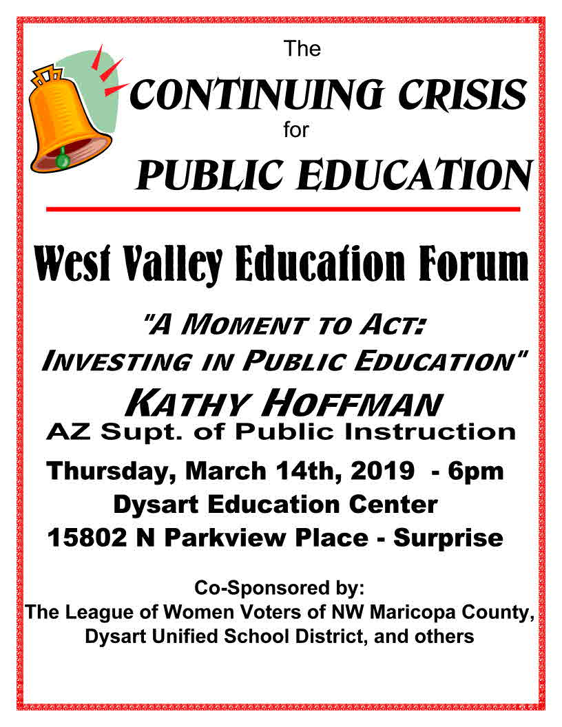 AAUW West Valley Education Forum | Southeast Valley (AZ) Branch